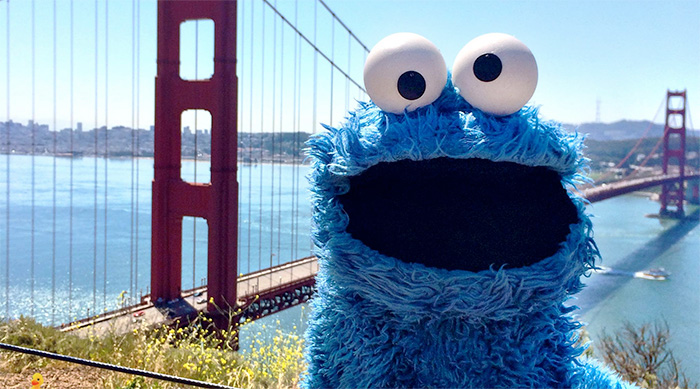 Cookie Monster San Francisco PBS Annual Meeting