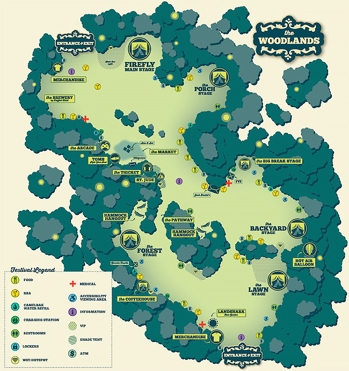 Firefly Music Festival Map