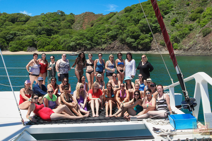 Roar Retreat group on catamaran - Costa Rica