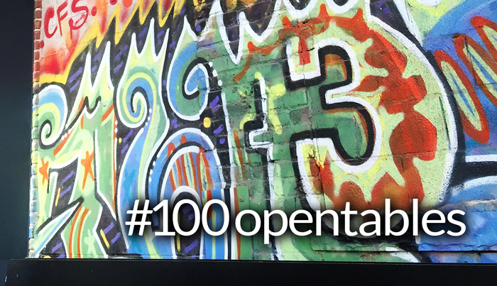 Open Table #100opentables