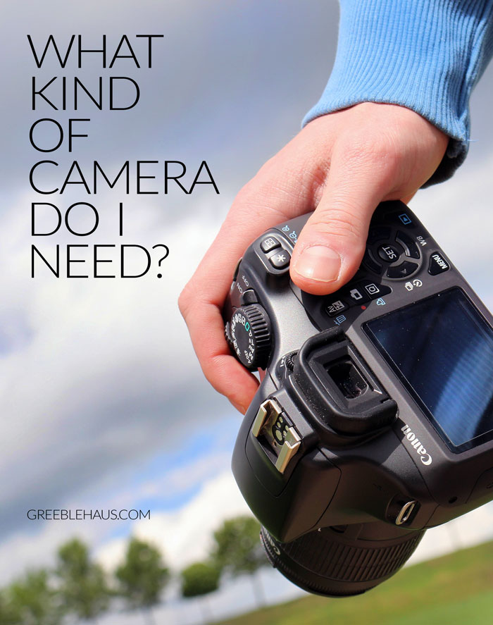 What Kind of Camera Do I Need? via Greeblehaus.com