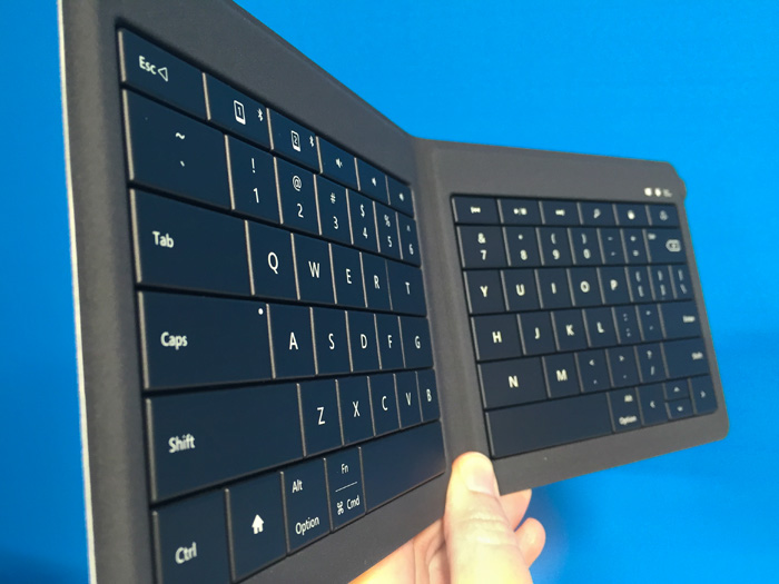 Microsoft Foldable Keyboard at Mobile World Congress Barcelona 2014