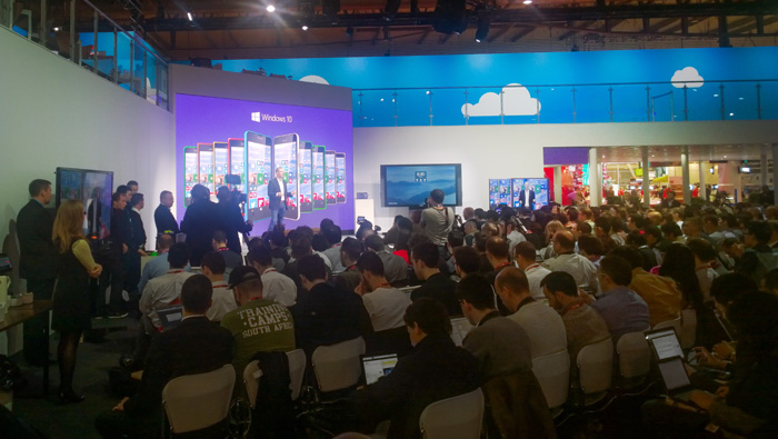 Microsoft Windows 10 at Mobile World Congress Barcelona 2014