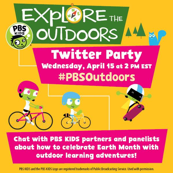 Explore The Outdoors Twitter Party with PBS KIDS
