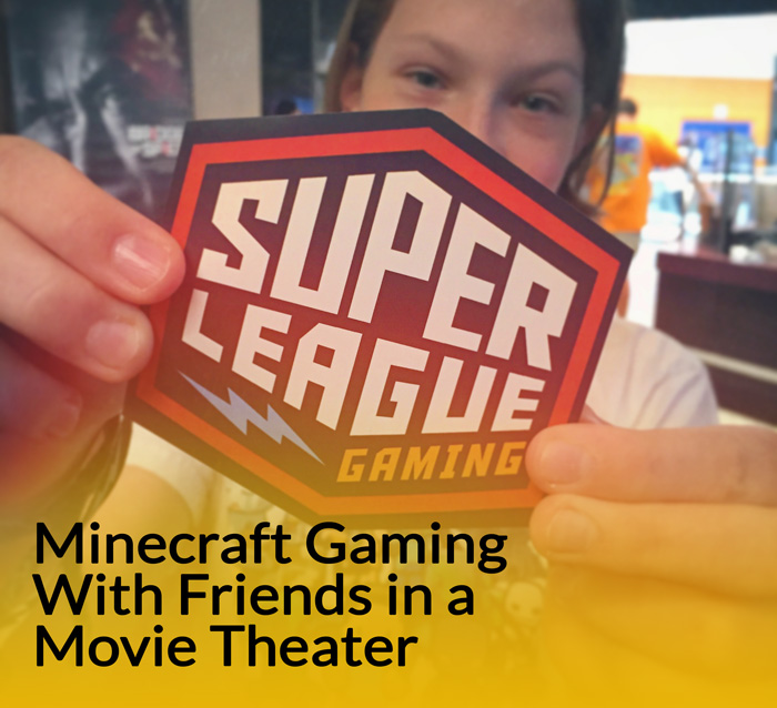 Minecraft Gaming With Friends in a Movie Theater