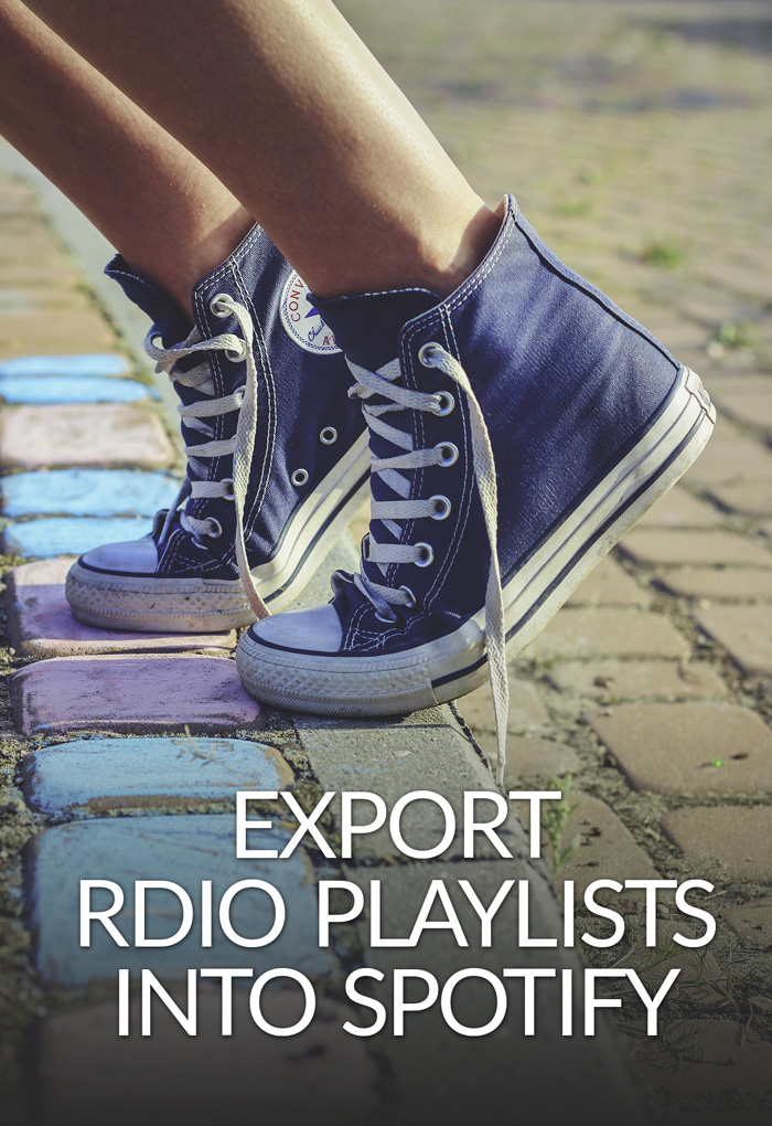 Export Rdio Playlists Into Spotify