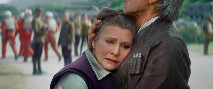 Leia & Han Solo Hug - Star Wars: The Force Awakens