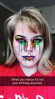 Snapchat Dripping Paint Lens