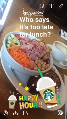 Snapchat Starbucks Filter