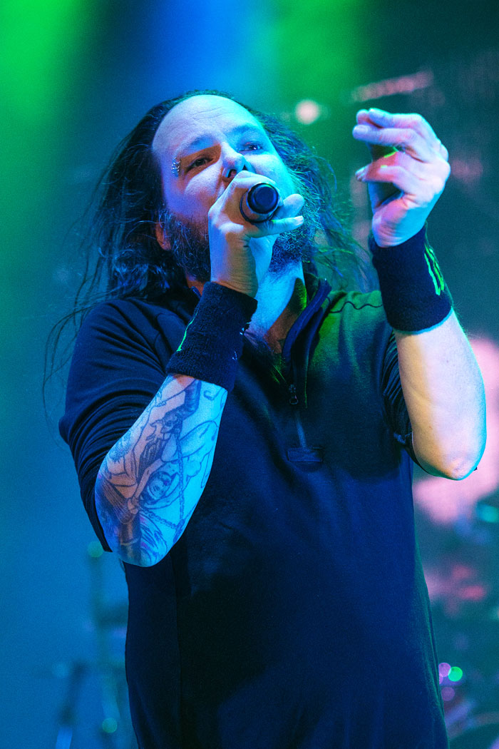 Korn performs with Rob Zombie in Denver at Fiddler's Green Ampitheatre, 2016