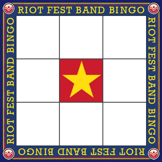 Riot Fest Denver 2016: Play Band Bingo to win tickets from Greeblehaus.com