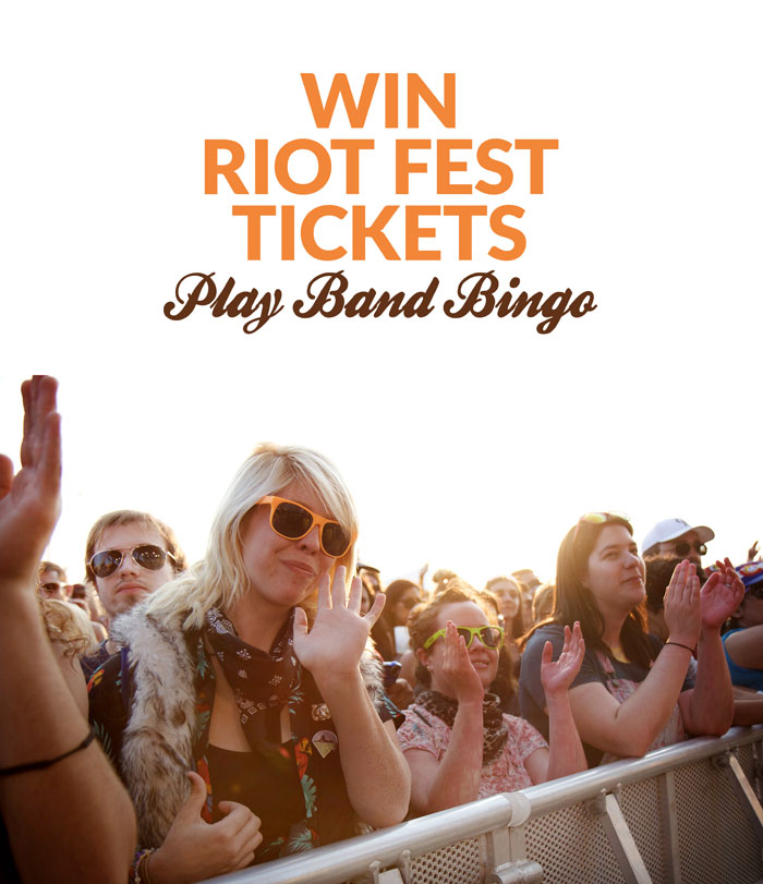 """Play """"Band Bingo"""" to win Riot Fest tickets for the 2016 Denver music festival!"""