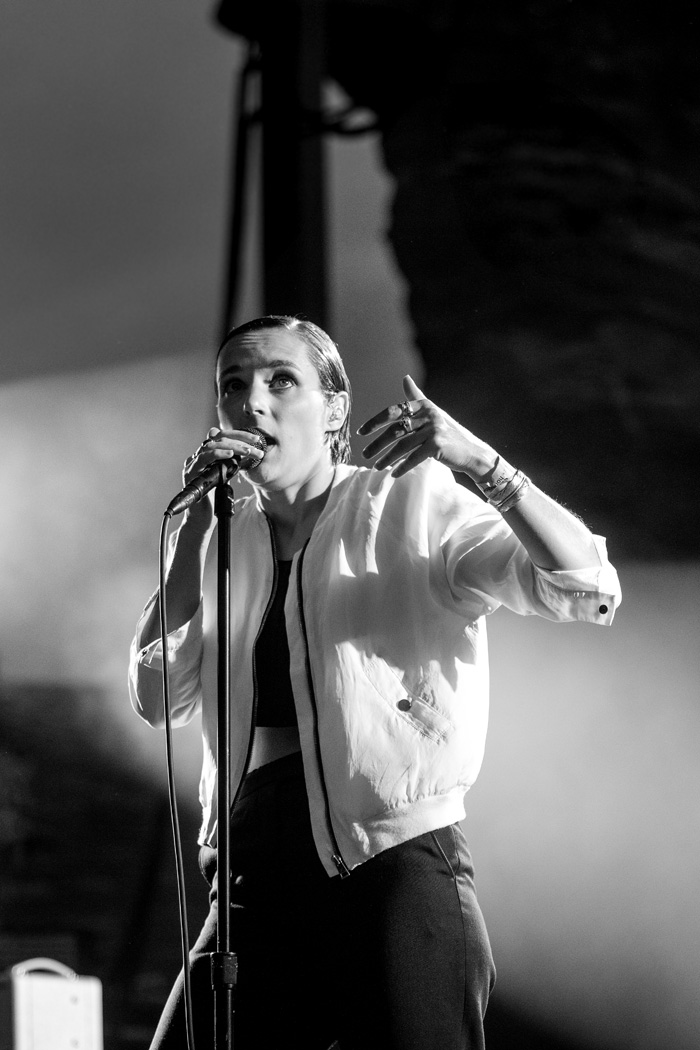 Savages open for LCD Soundsystem at Denver's Red Rocks Ampitheatre