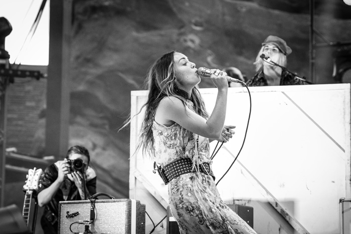 Zella Day performs with Michael Franti at Denver's Red Rocks Ampitheatre