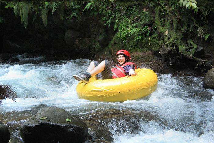 Costa Rica River Drift travel adventure near the Arenal volcano