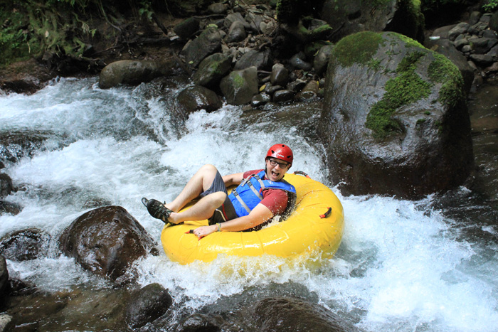 Costa Rica River Drift travel adventure near the Arenal volcano