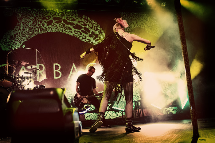 The band Garbage rocks out Denver's Fillmore Auditorium in 2016