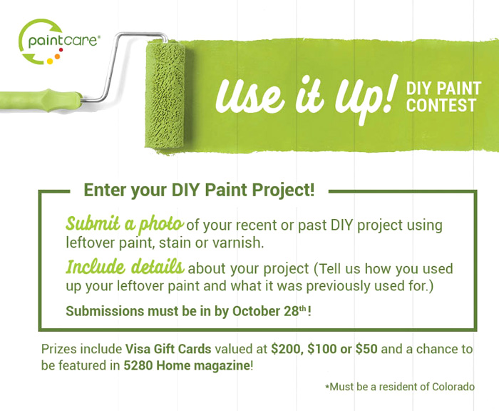 PaintCare Use It Up Recycle Paint Contest for Colorado