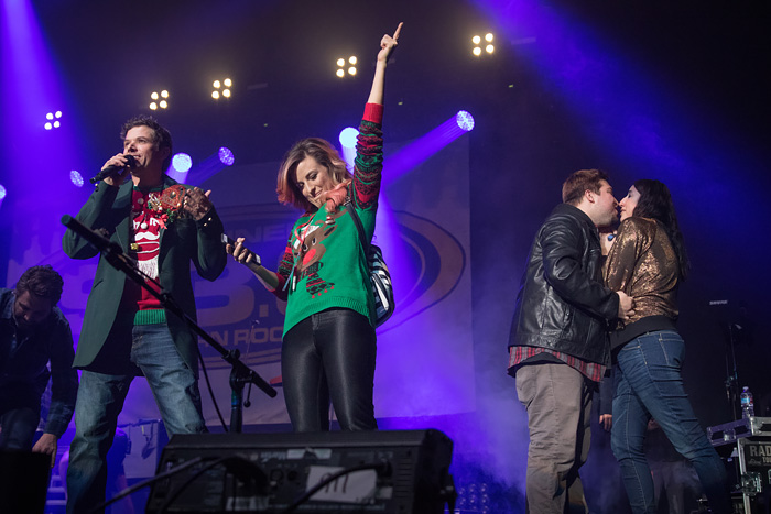 Proposal at KTCL Channel 93.3 Not So Silent Night 2016