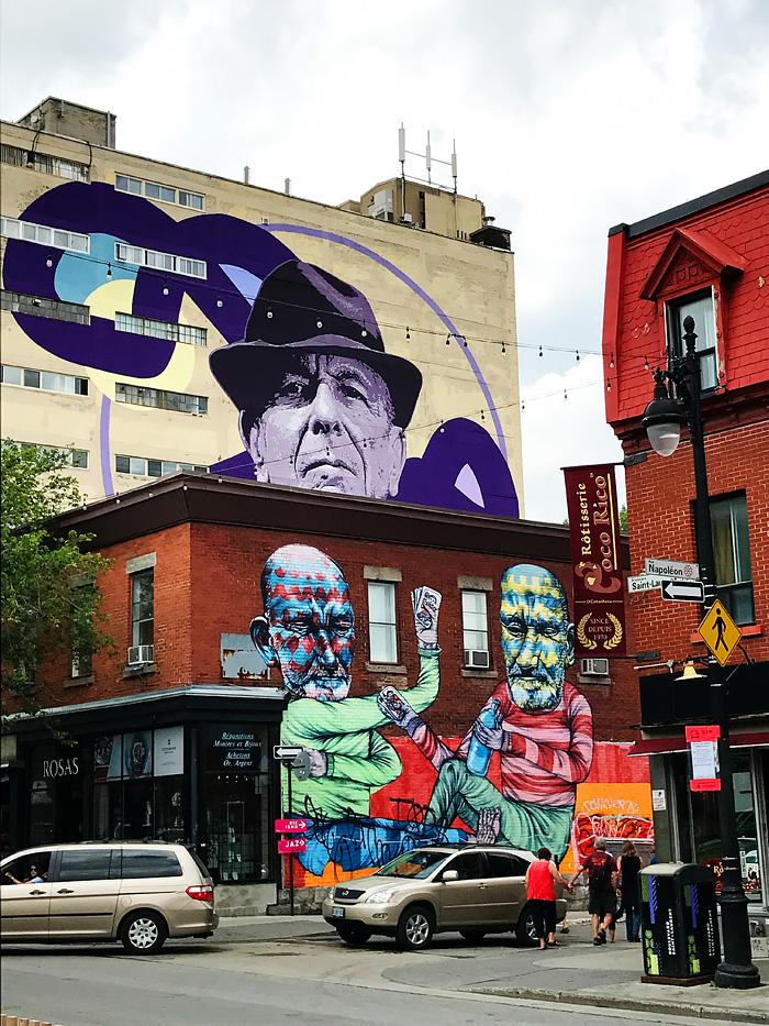 Mural Festival - Leonard Cohen - Montreal, Quebec