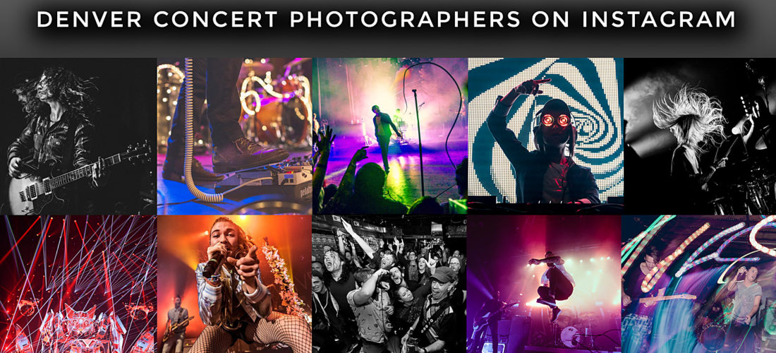 List of Denver & Colorado Concert Photographers on Instagram