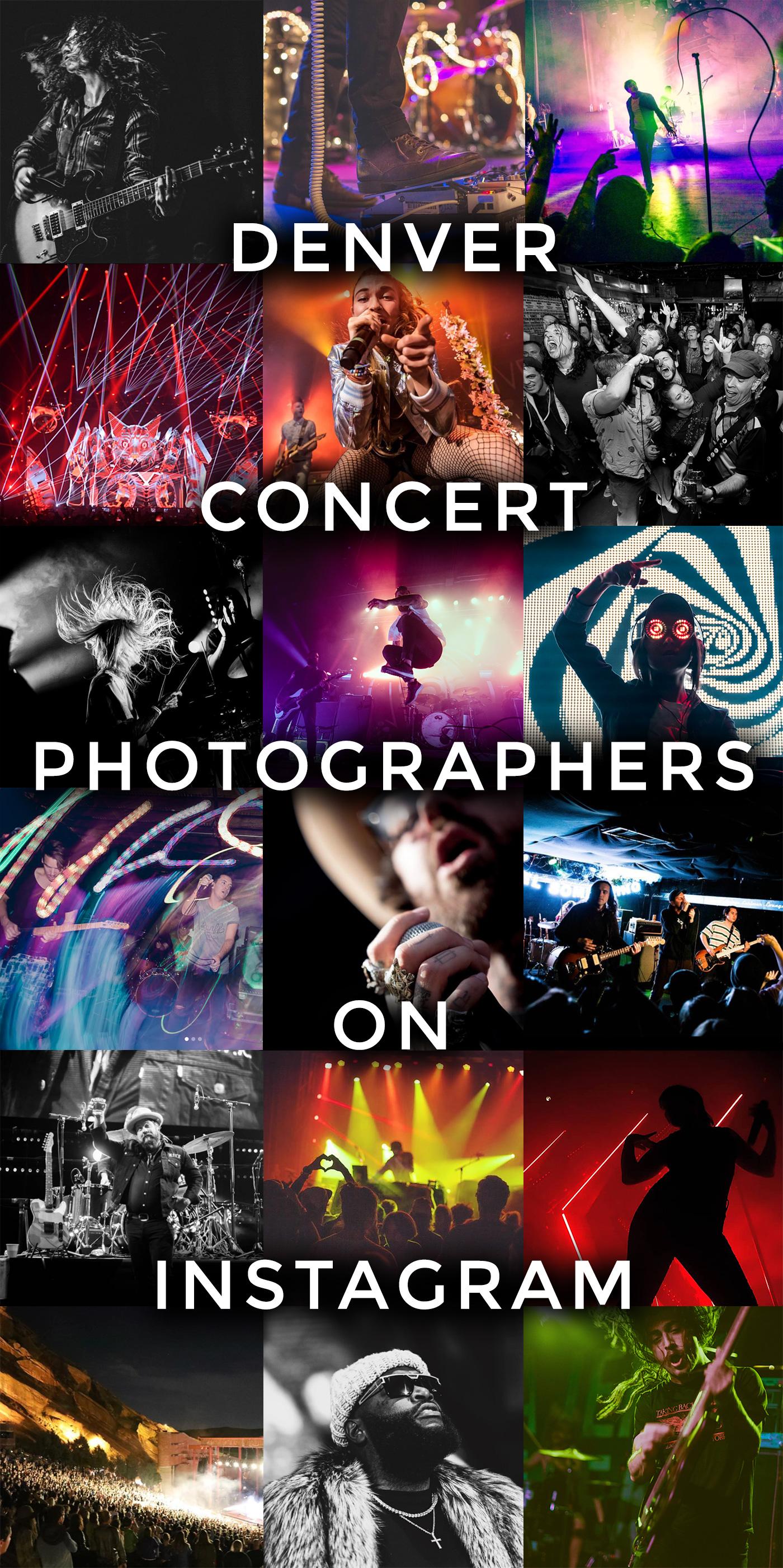 List of Denver Concert Photographers on Instagram #music #concerts #photography #denver