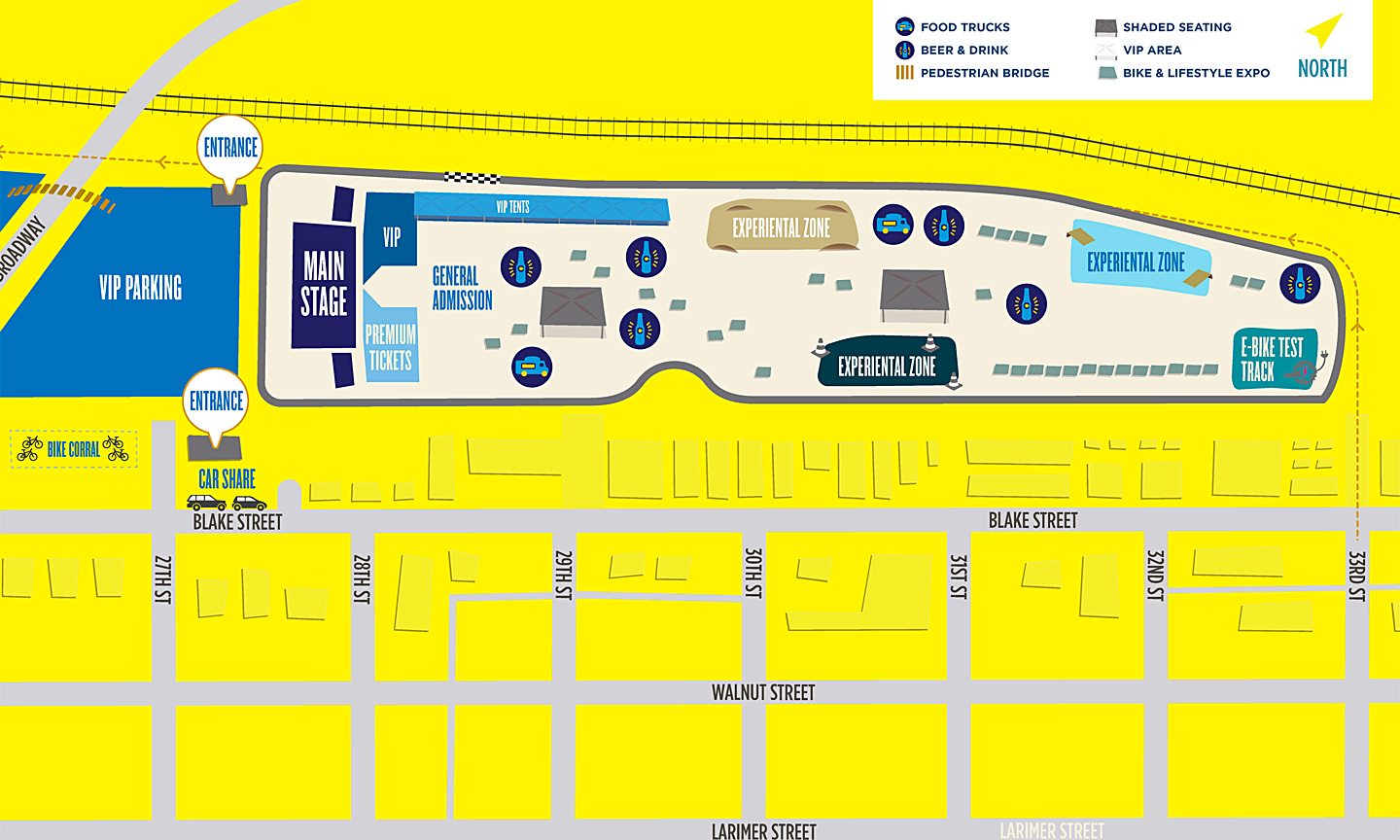 Velorama Music Festival Denver Map