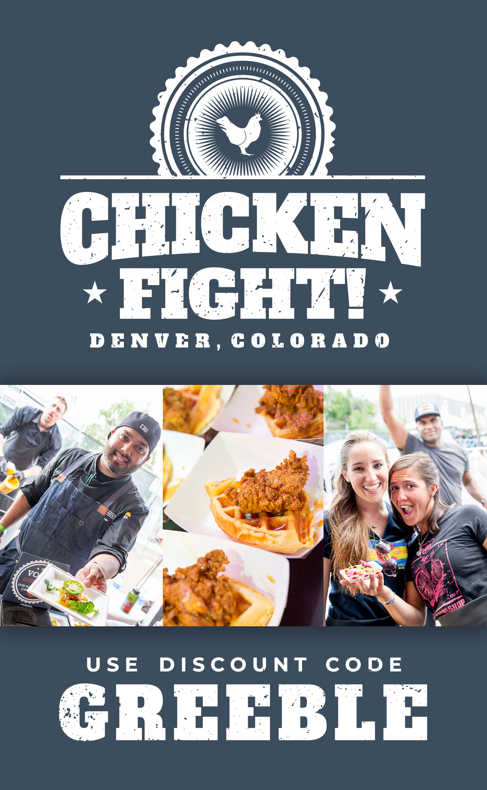 Discount Code for Chicken Fight Fest - Chicken Food Tasting and Competition in Denver