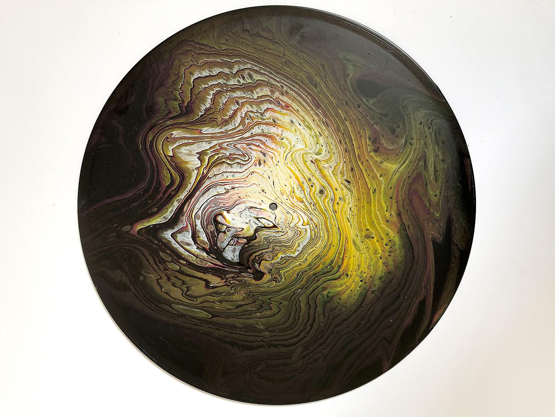 Poured Acrylic Art on Vinyl Records - Meridian Artwork, Denver
