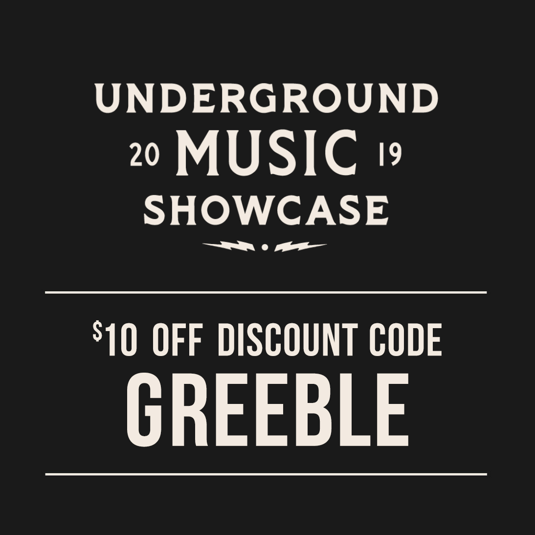 "UMS Discount Code - Use ""Greeble"" as a promo code for the Underground Music Showcase in Denver"