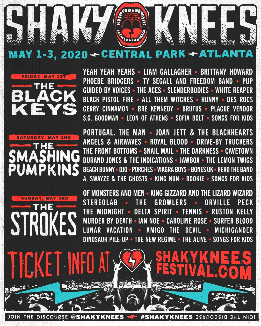 Shaky Knees Music Festival Atlanta 2020 Lineup