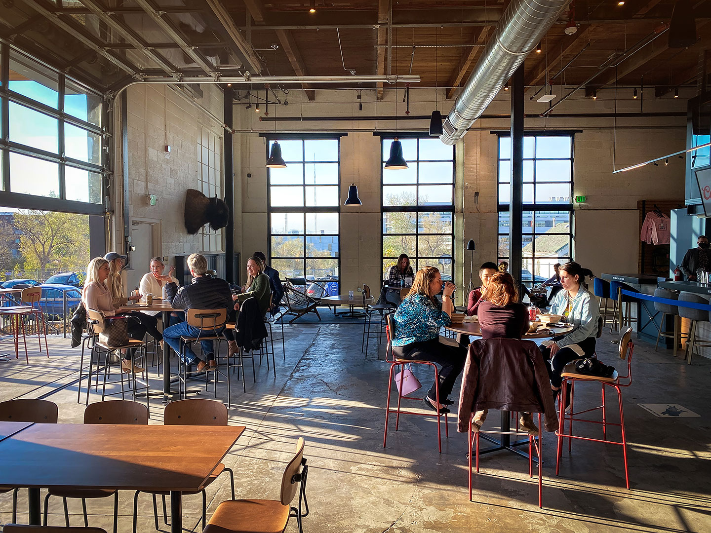 Number 38 Social Hall - Bar, Restaurant & Music Venue in RiNo, Denver - Focused on Colorado local - Mostly outdoor spaces with the feeling of après skiing all year long