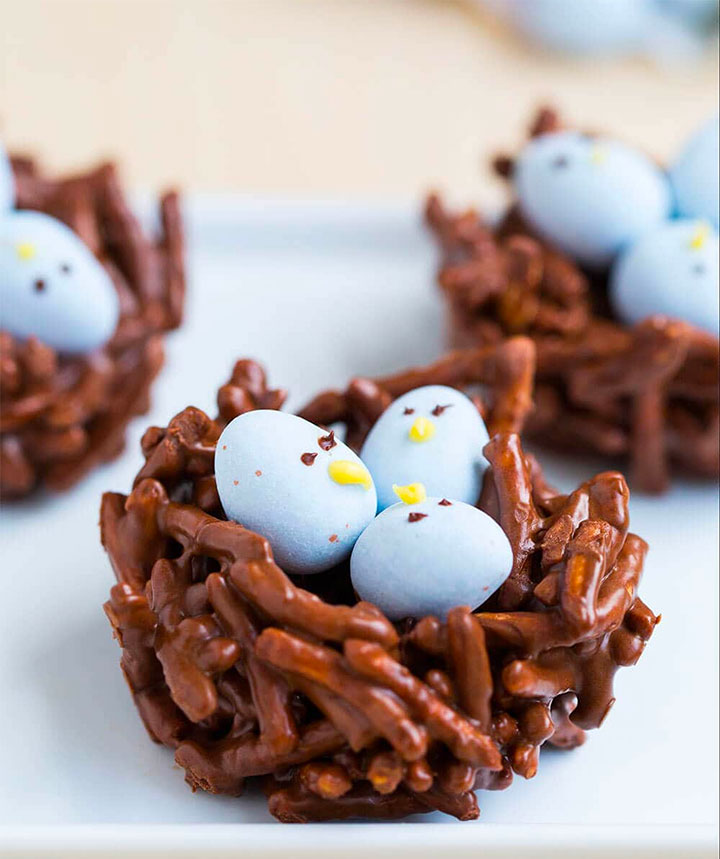 Easter Crafts & Recipes - Chocolate Bird Nests