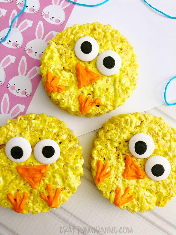 Easter Crafts & Recipes - Rice Krispie Easter Chicks