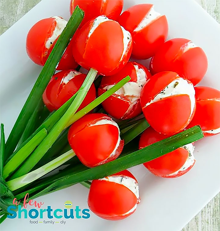 Easter Crafts & Recipes - Tulip Tomatoes