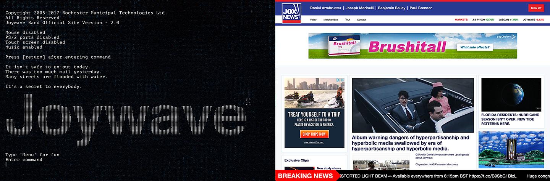 Joywave - Examples of Website Design